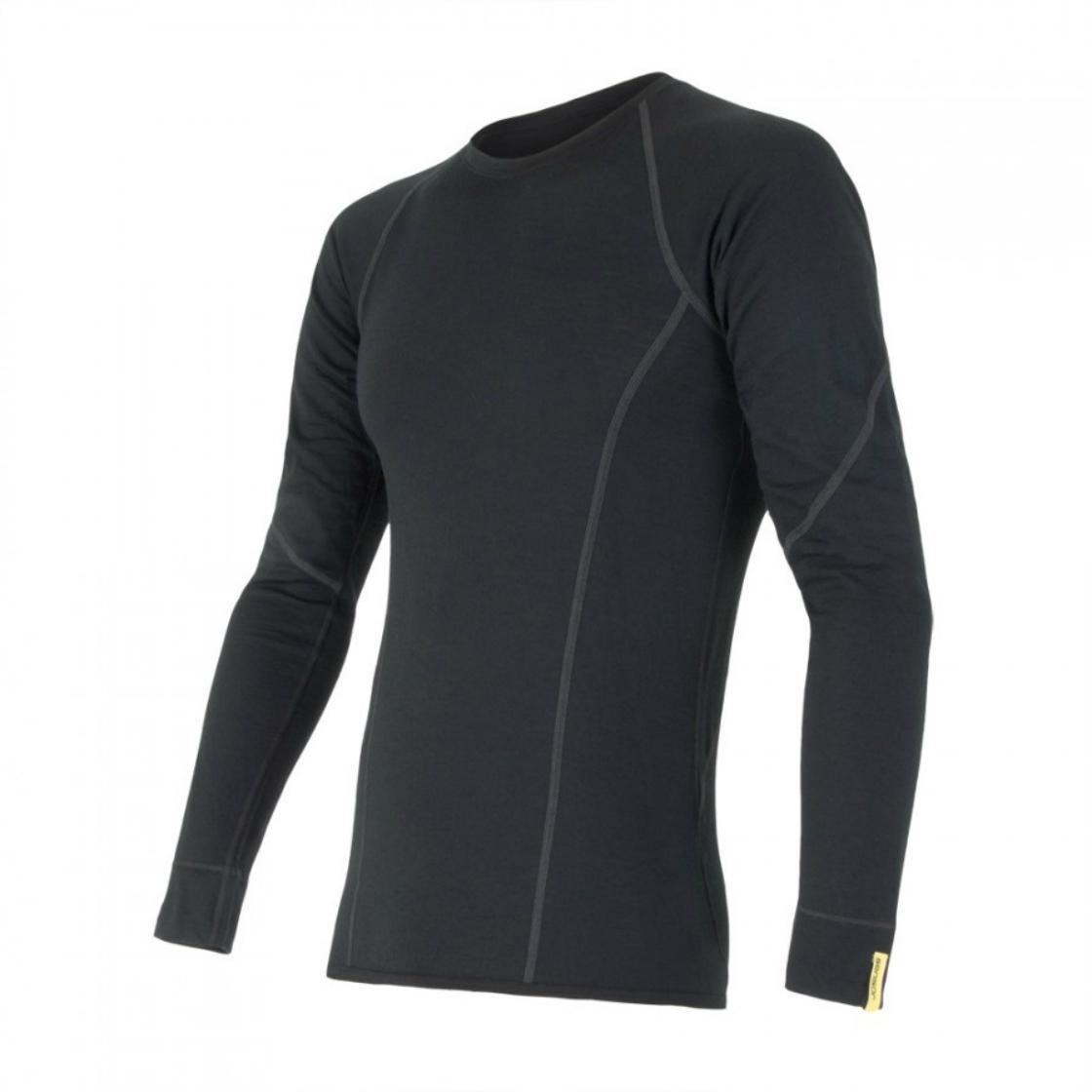f4da63ef2b57 pánske Sensor Merino Wool Active - Sensor merino wool active tričko čierne dlhý  rukáv