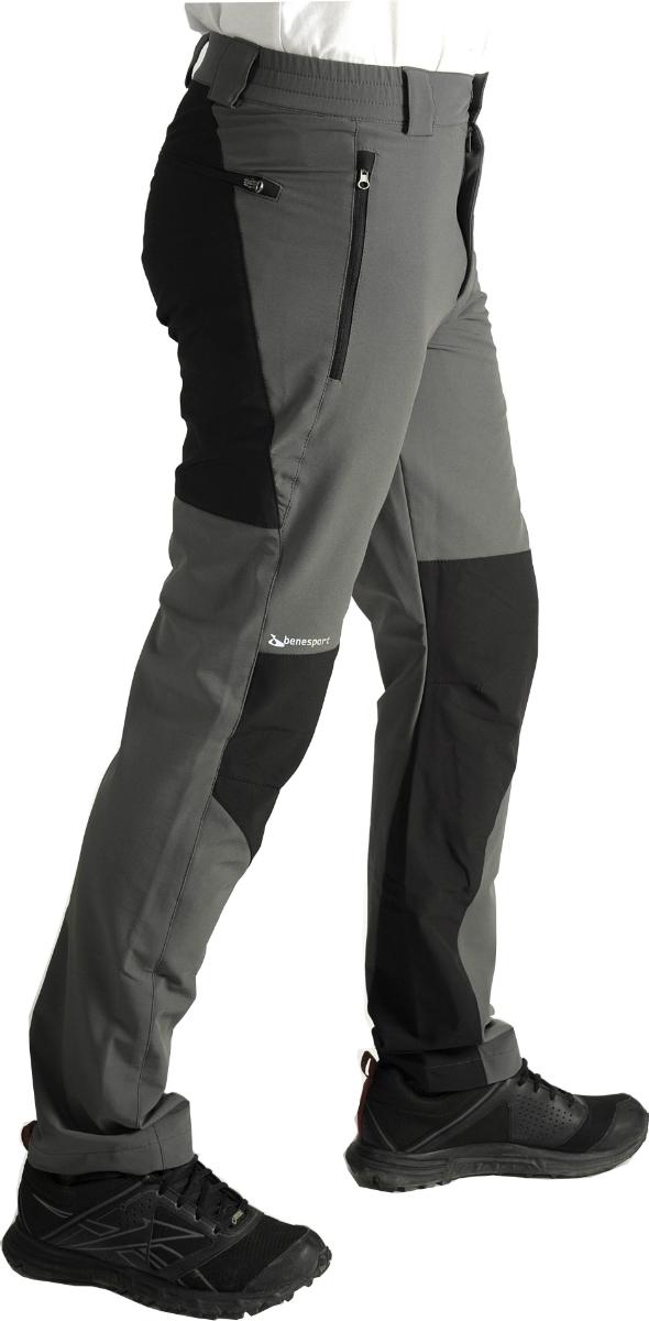 a3bac43ad4fd pánske stretchové outdoorové nohavice BENESPORT SALATÍN šedé 38+98 ...